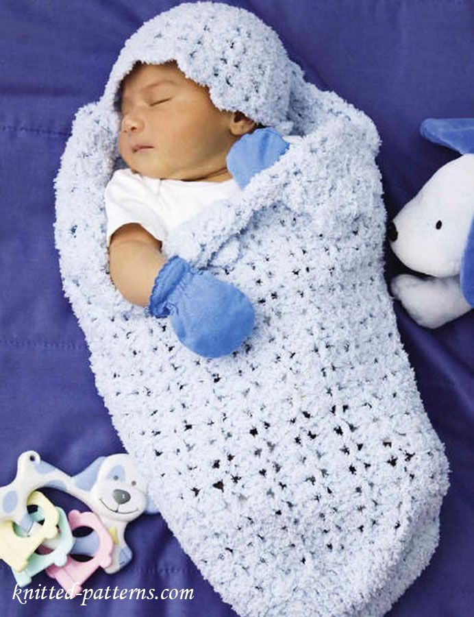 Baby cocoon and hat crochet pattern free
