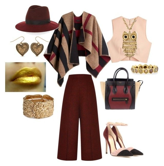 """""""Untitled #248"""" by thestyle-chic ❤ liked on Polyvore featuring Burberry, Proenza Schouler, Gianvito Rossi, CÉLINE, Finders Keepers, rag & bone, H&M, Todd Reed, Arizona and Kim Rogers"""