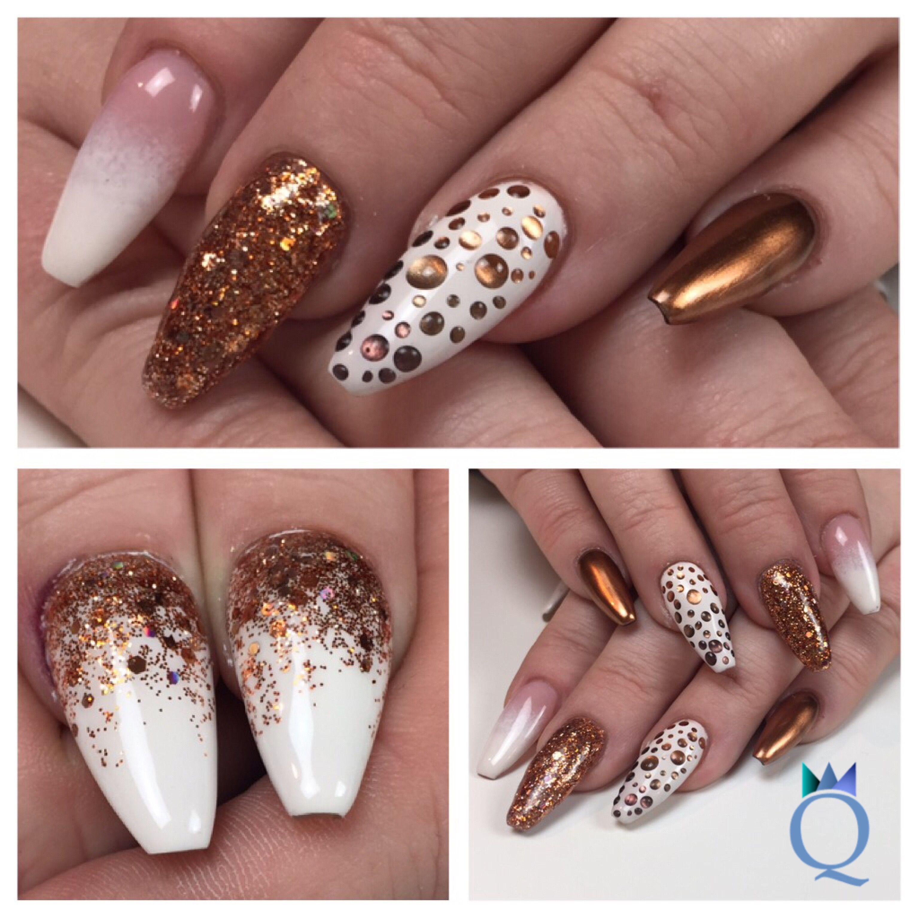 coffinshape #ballerinanails #longnails #gelnails #nails #white ...