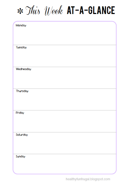 picture relating to Week at a Glance Planner named Horizontal 7 days at a search weekly planner totally free printable