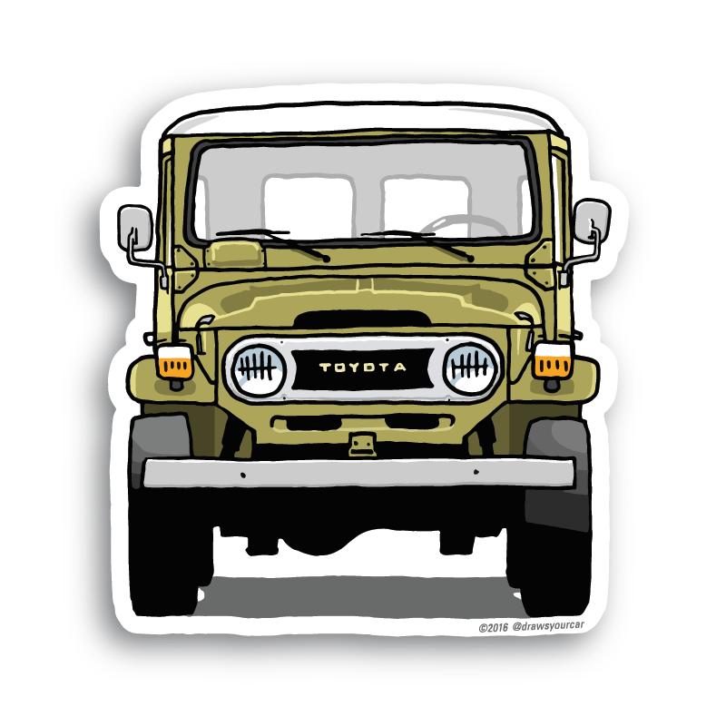 Toyota FJ40 LandCruiser stickers | Mobil, Stiker, Desain logo (800 x 800 Pixel)