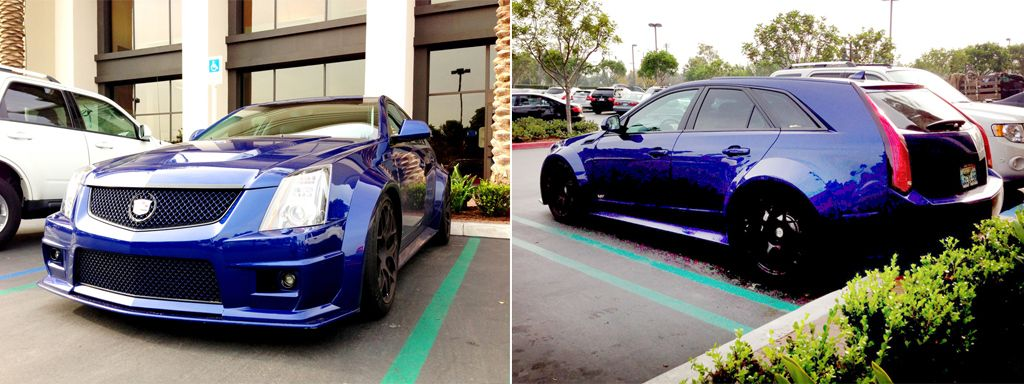 Beautiful Blue Cadillac Cts V Wagon 550hp And Wagon Is There