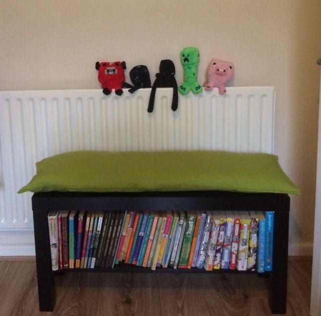 Lack Tv Unit Into Bookshelf Bench Bookshelf Bench Ikea Lack Table Creative Bookshelves