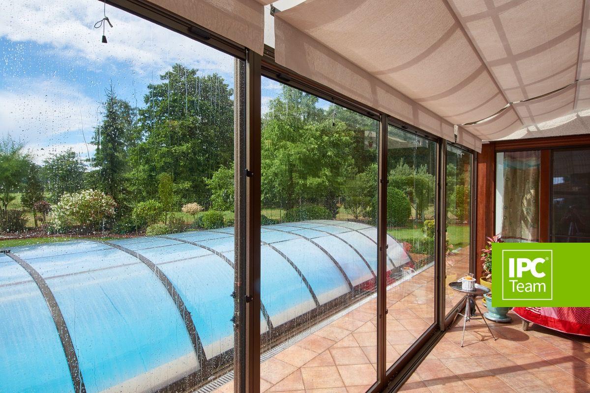 Corso Patio Enclosure   Retractable Sunroom   With Sunshade   Blinds