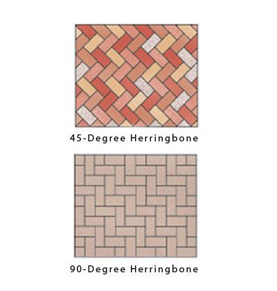 Herringbone Brick Pattern Paver Patterns