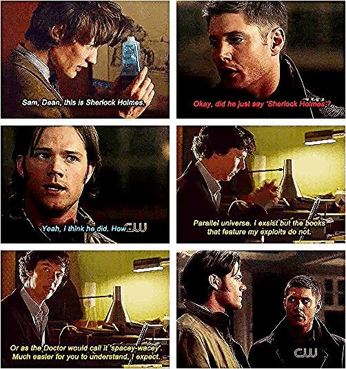 this was the unquestionable truth 34 Amazing Crossovers You Wish Were Real The Doctor meets Harry Potter Sherlock and Dean and Cas Hannibal everything grabby hands34 Amaz...