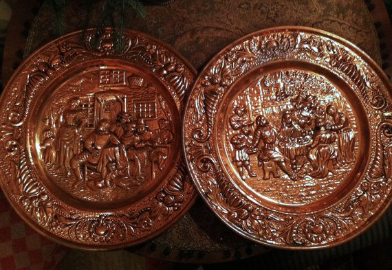 Copper Decorative Plates. Set of Two Peerage by AnythingDiscovered $56.00 & Copper Decorative Plates. Set of Two Peerage Repousse Copper Plates ...