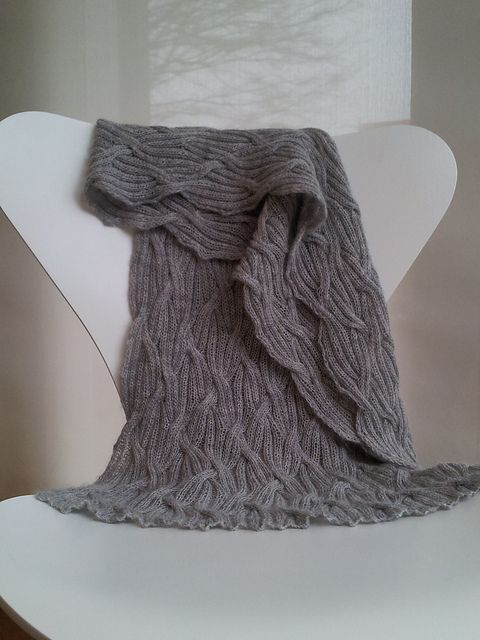 lazy-vegetarian:Winter Mists Wrap by Cath Ward (free pattern on Ravelry)