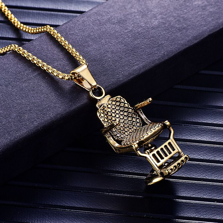 Barber Chair Necklace In 2020 Barber Chair Barber Barber Shop