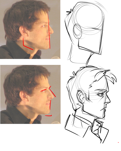 How to Draw Anime Male Facial Expressions Side View in