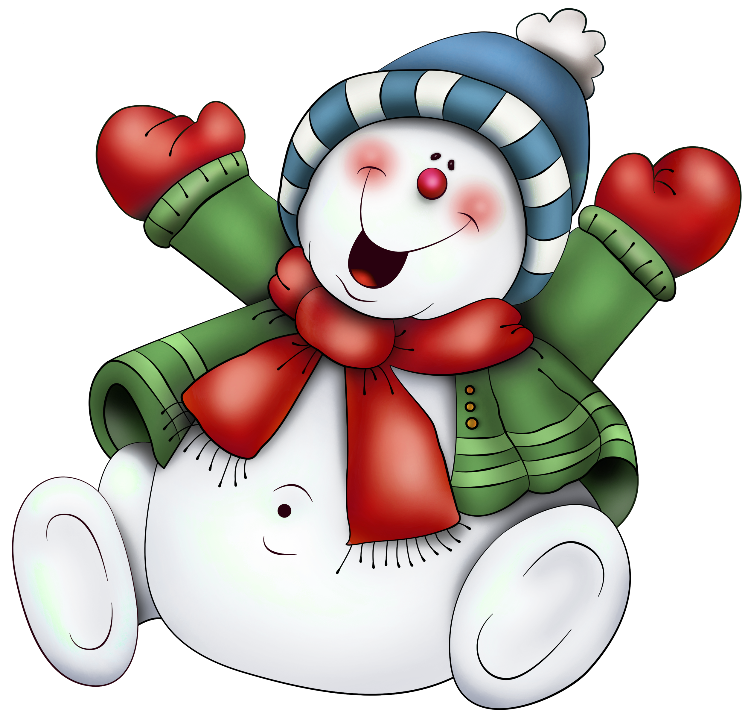 Snowman with Scarf PNG Clipart (use on transparencies inside clear ...