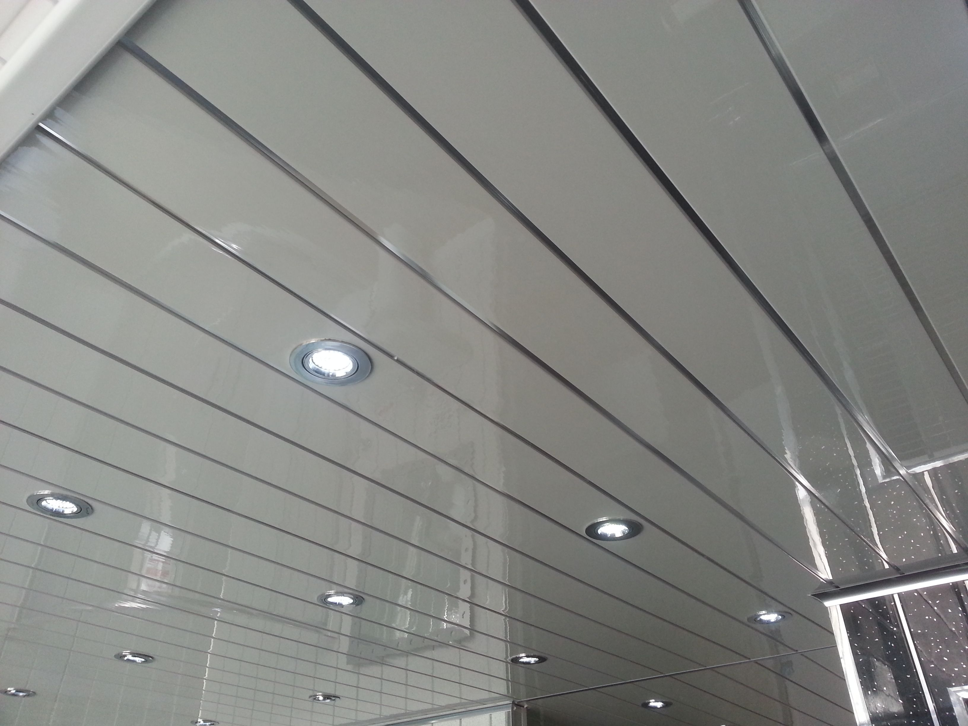 Chrome Strip Pvc Ceiling Panels Great For Bathrooms And