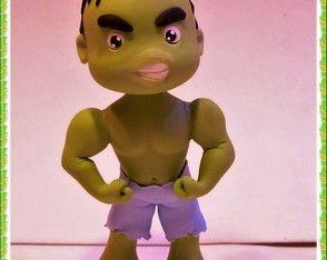 Mini topo de bolo Hulk