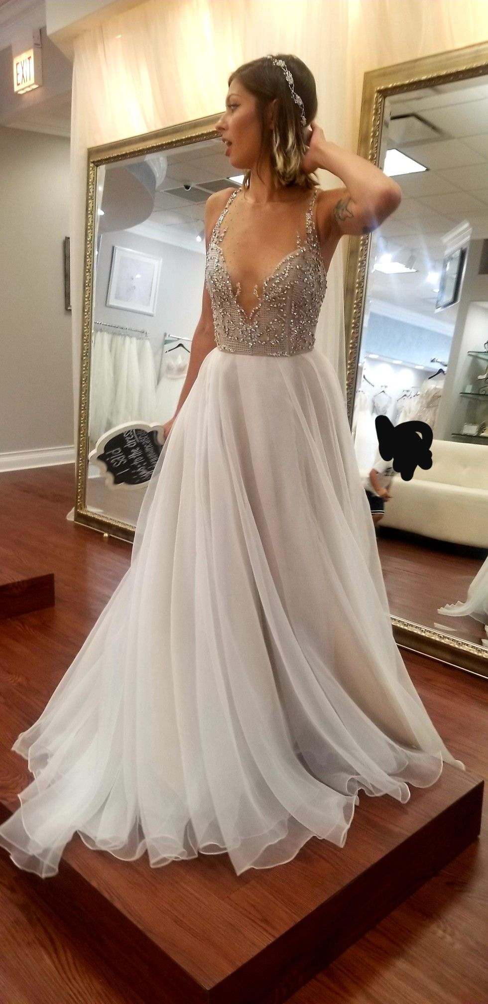 I said yes!! Hayley Paige Kenny Gown in Moondust Wedding