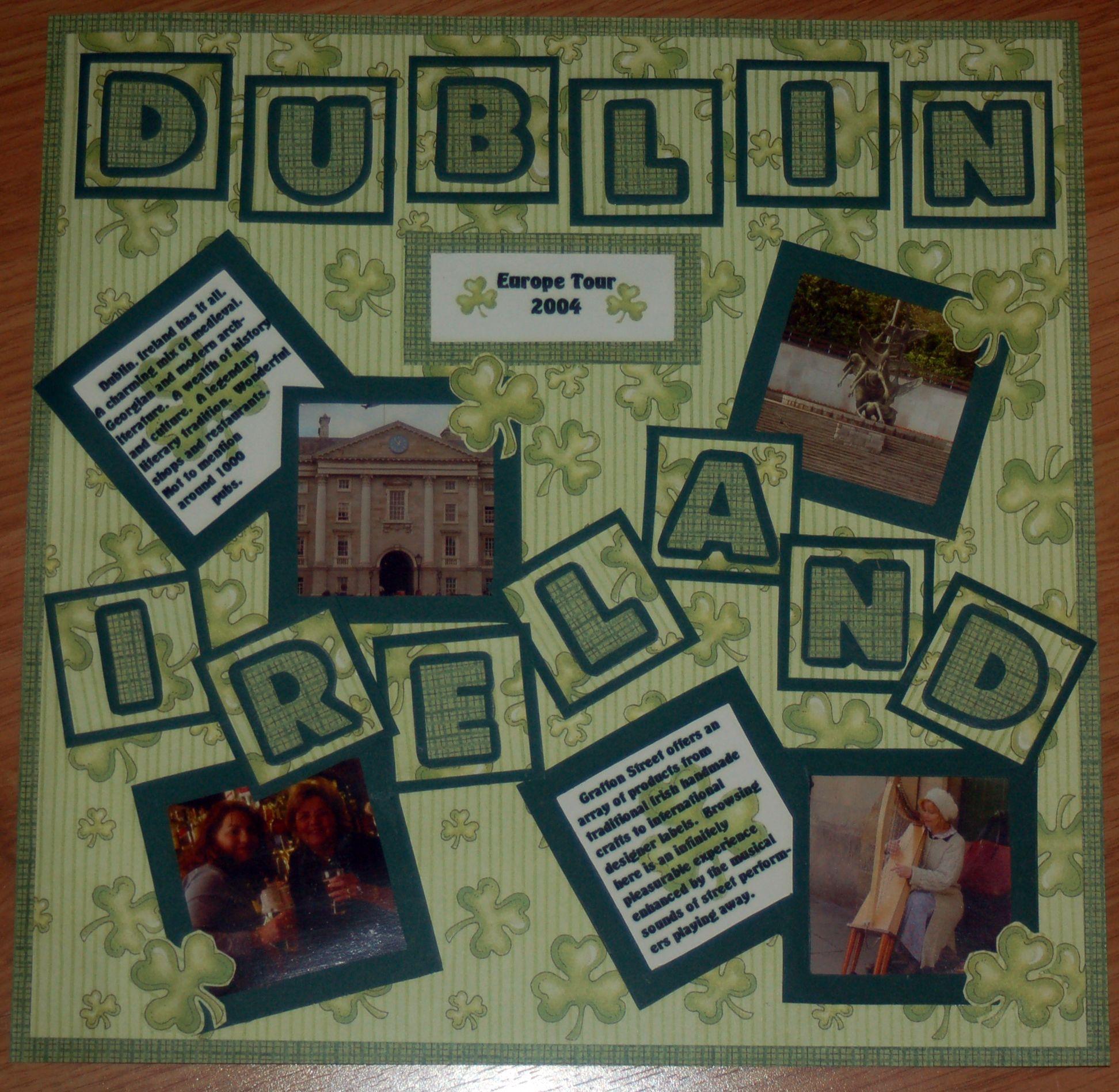 Scrapbook ideas niagara falls - Scrapbooking Layouts Ireland Dublin Ireland