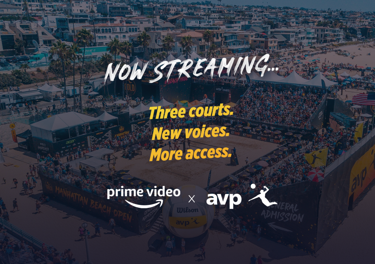 More Courts More Coverage In Year 2 Of Amazon Prime Video Avp Avp Beach Volleyball Amazon Prime Video Prime Video Video On Demand
