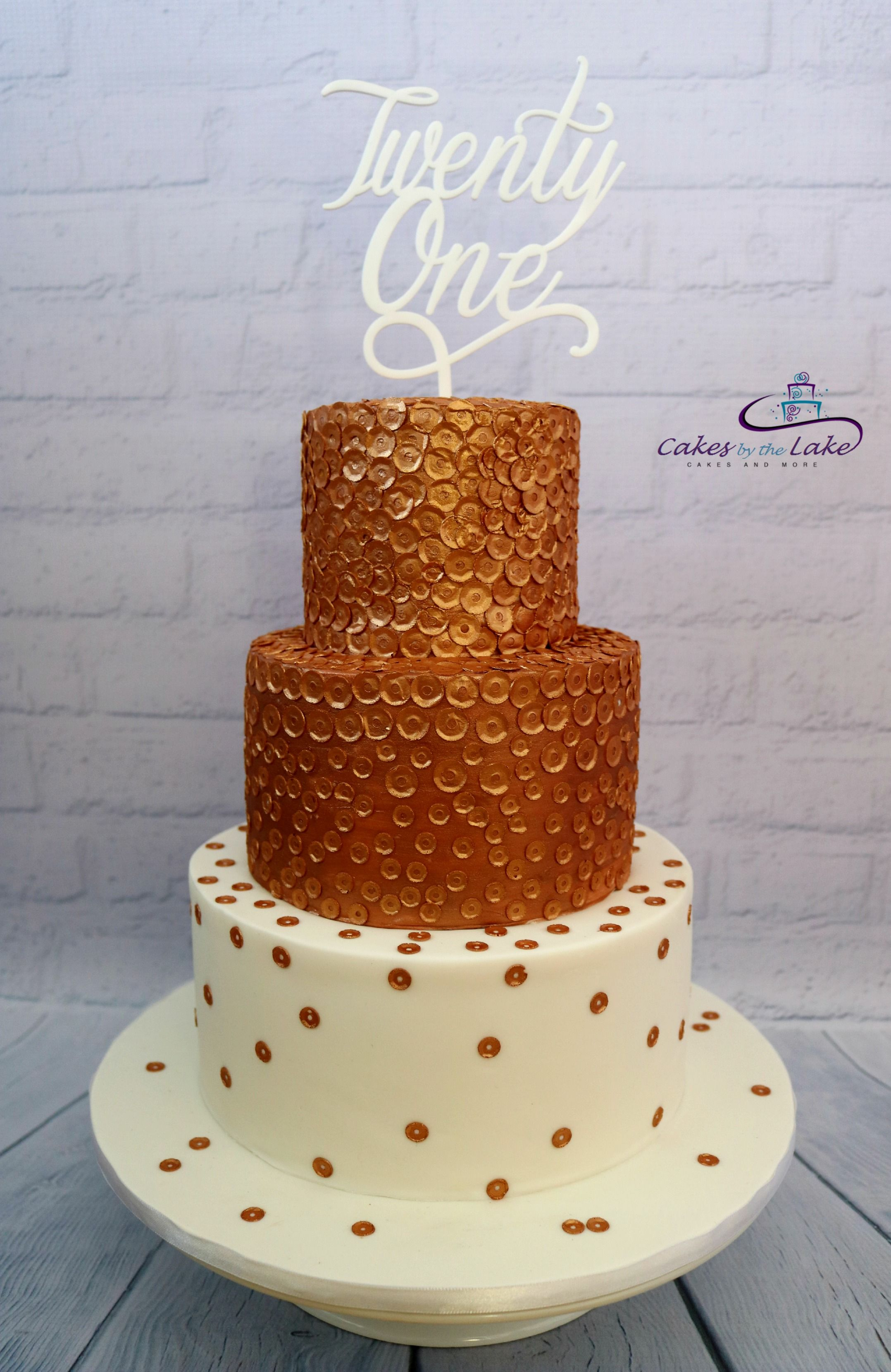ROSE GOLD SEQUIN CAKE Another of our cakes from this ...