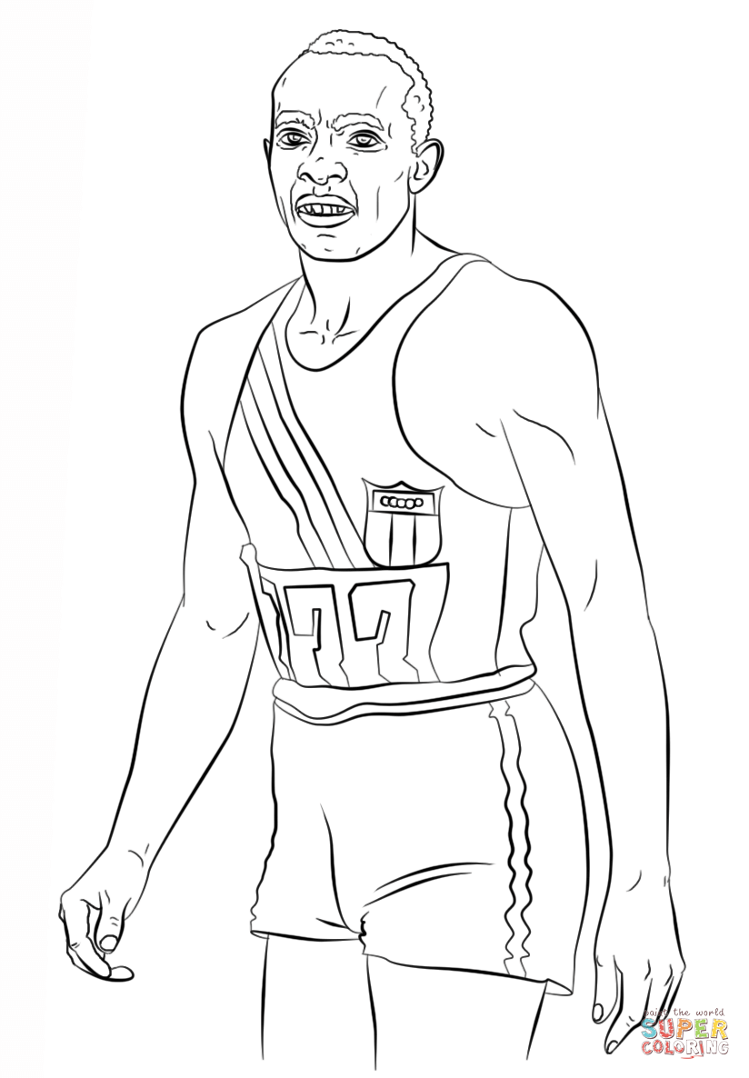 Jesse Owens Coloring Page Google Search Jesse Owens Black History Month Writing Coloring Pages