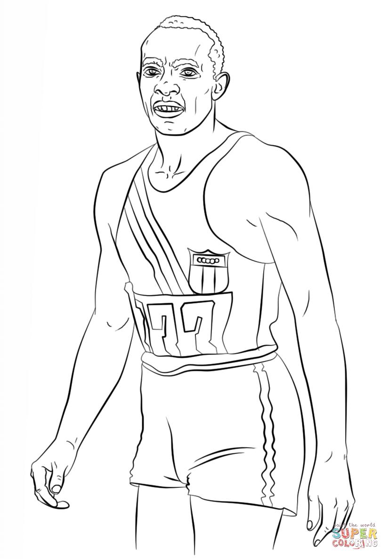 Ausmalbilder Disney Jessie : Ber Hmt Jesse Owens Coloring Page Bilder Druckbare Malvorlagen