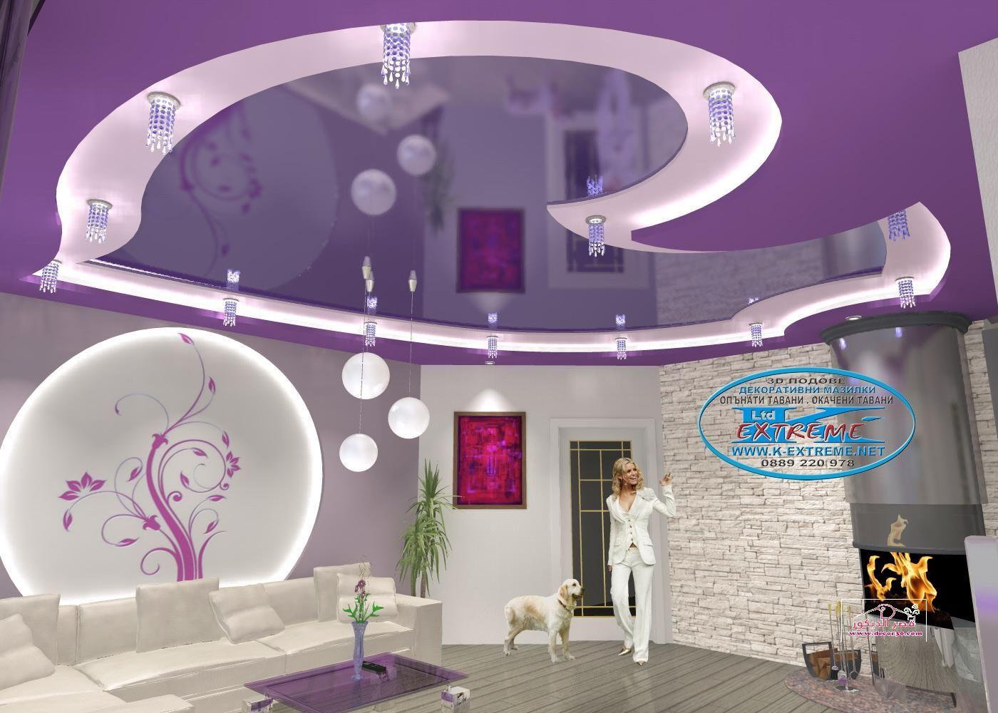 اسقف جبس بورد حديثة Modern Gypsum Board Ceiling قصر الديكور Ceiling Design Lighted Bathroom Mirror Design