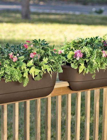 Deck Over Railing Planter Boxes Gardener S Supply Railing