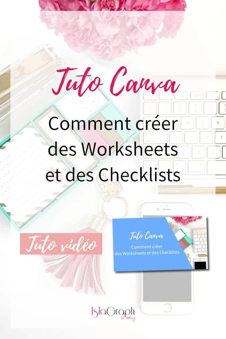 comment cr u00e9er des worksheets et checklist avec canva