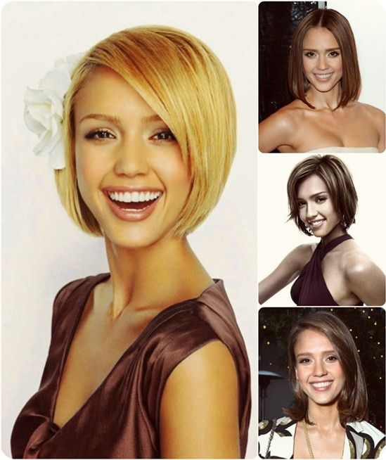 Jessica Alba chic short cut hairstyles for homecoming 2013