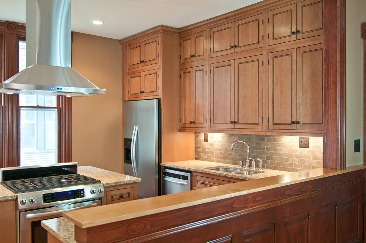 The Kitchen Cabinets Are The Fairmont Inset Style From Cliqstudios Com In The Cherry Russet Traditional Kitchen Cabinets Kitchen Remodel Kitchen Cabinet Design