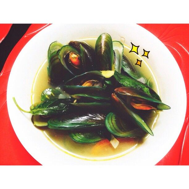 First time to cook Mussels pinoy style hihi