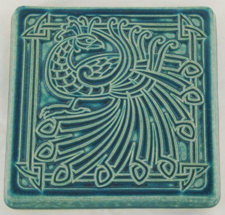 Pewabic 6x6 Peacock Tile Pewabic Pottery Tile Art Mosaic Art