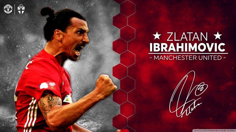خلفيات زلاتان إبراهيموفيتش بقميص مانشستر يونايتد Manchester United Zlatan Ibrahimovic Manchester