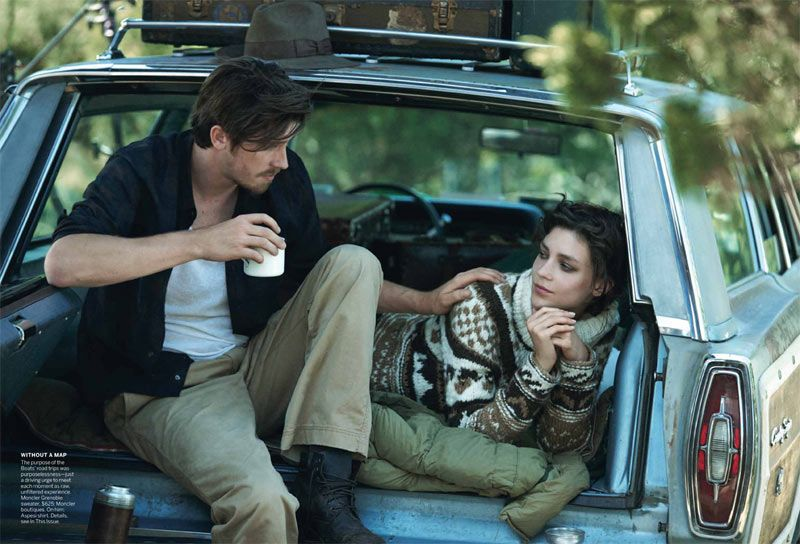 Kati Nescher & Garrett Hedlund Hit the Road for Peter Lindbergh in Vogue US October 2012