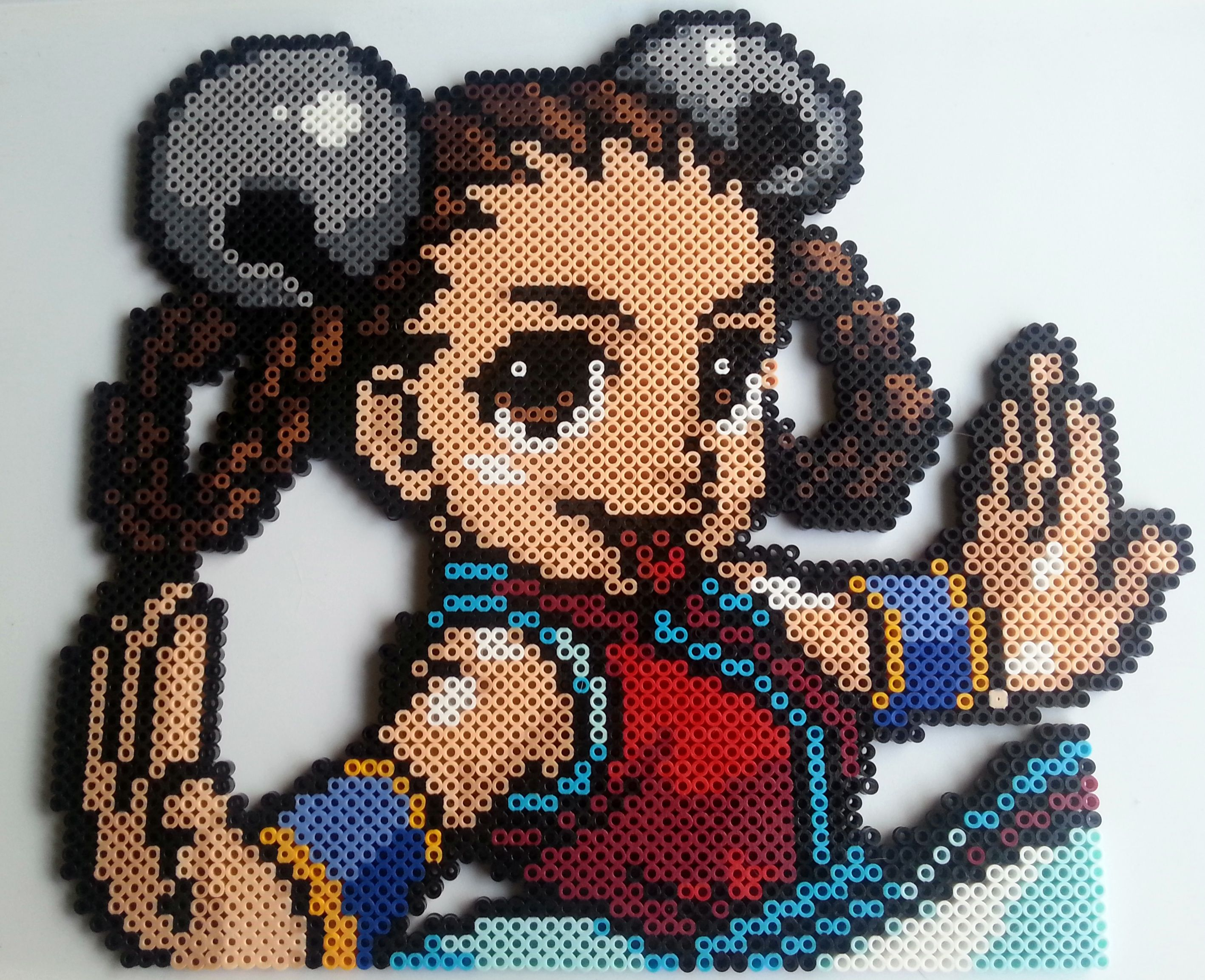 Large Xiang-Fei (King of Fighters) Perler beads by Nerd Melt