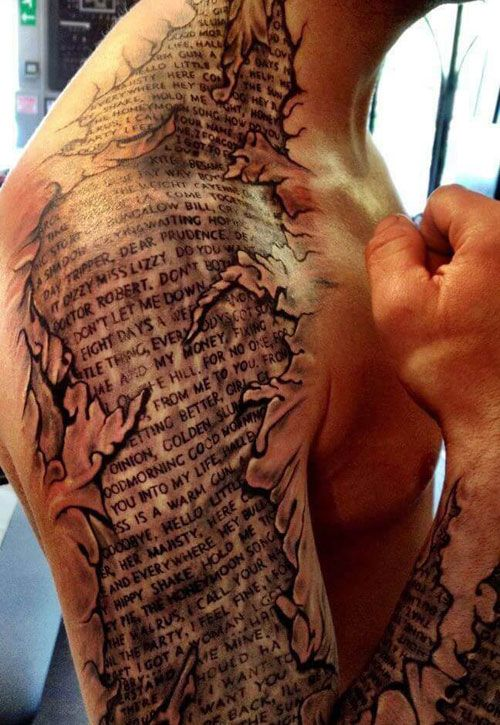 Bible Verse Chest Tattoos For Men : bible, verse, chest, tattoos, Shoulder, Tattoos, Designs, Ideas, (2019, Guide), Sleeve, Tattoos,, Scripture