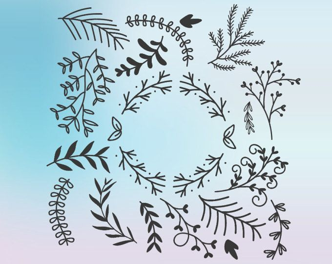Branches Clip Art, fall branches clipart, tree branches ...