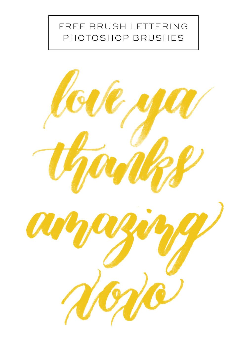 Free Brush Lettering Photoshop Brushes | happy hands project ...