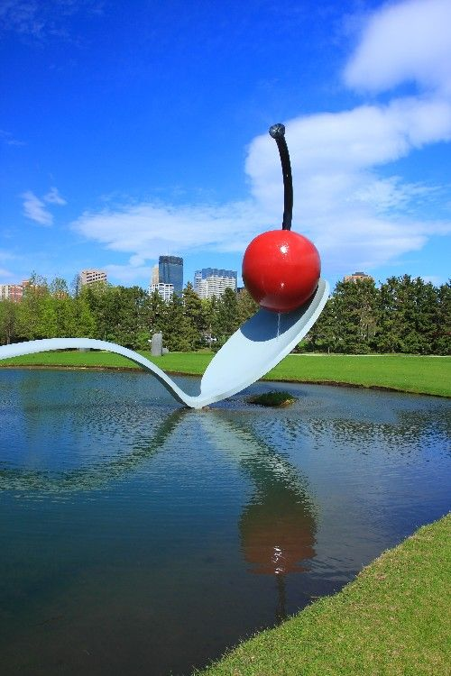 MINNEAPOLIS: Completed in 1988, Minneapolis' Spoonbridge and Cherry sculpture has become a major icon of the city.