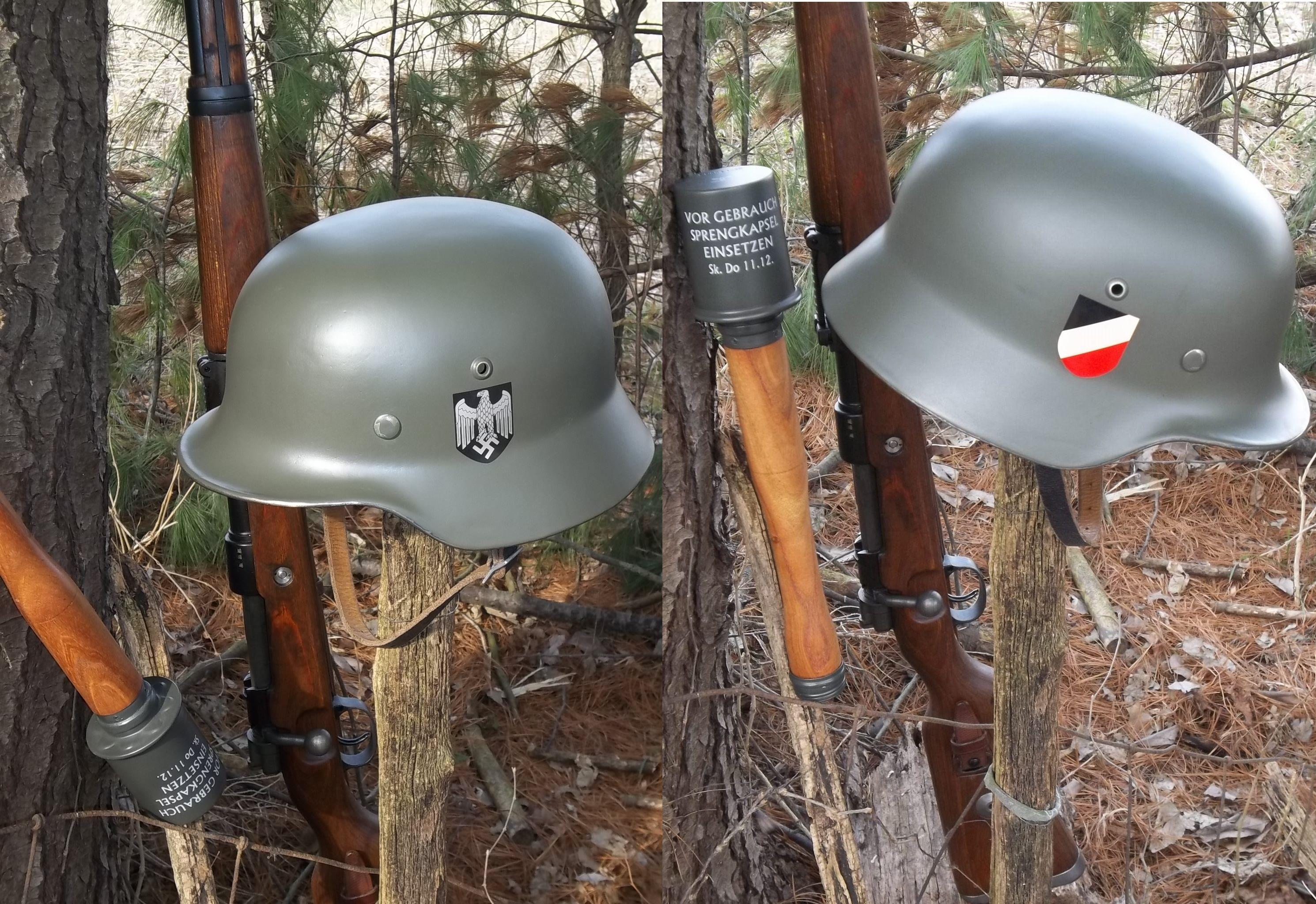 Wwii german m35 early war heer army helmet ef66