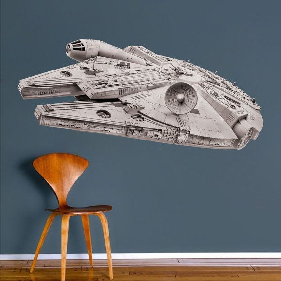 millennium falcon wandtattoo gr en h he x breite in. Black Bedroom Furniture Sets. Home Design Ideas