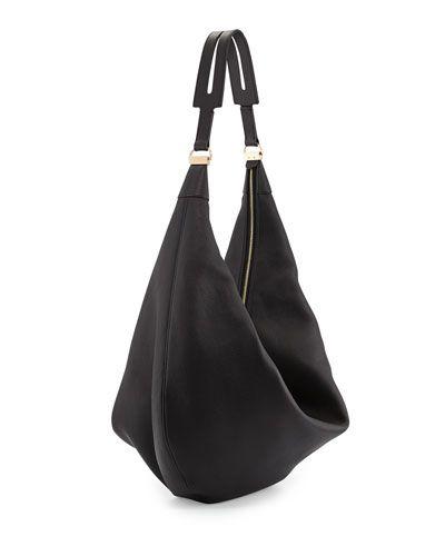 418799097a3917 Tom Ford Jennifer Side-Zip Leather Hobo Bag, Black   Bags in 2018 ...