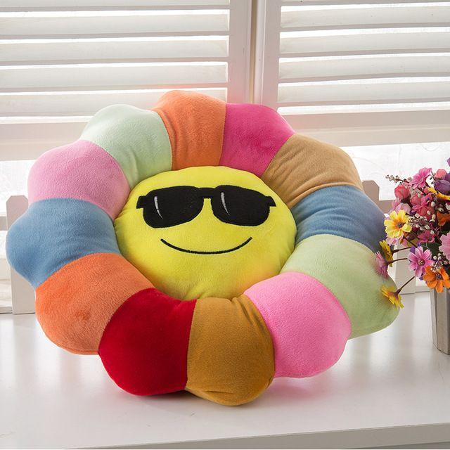 emoticon cushion,45x45cm/55x55cm size decorative set cushion,soft cushion smiley,Sunflower shape seat cushion,home decor bedding
