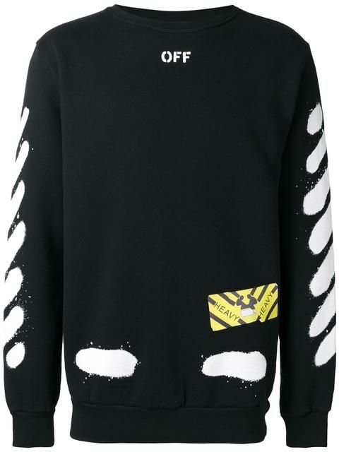 436f4fe575d4 OFF-WHITE Diagonal Spray sweatshirt.  off-white  cloth  sweatshirt ...