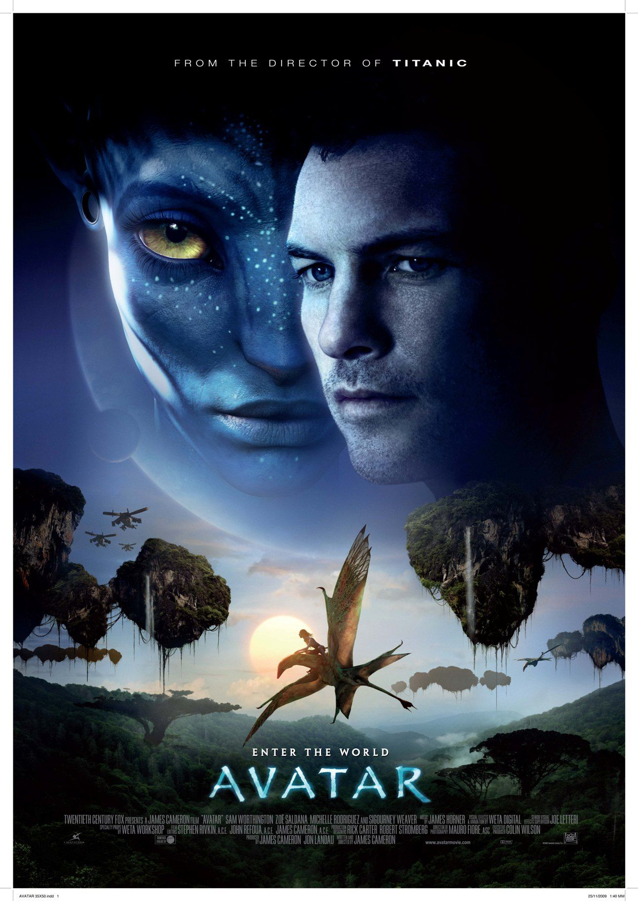Avatar Movie Poster 2009 The Official Budget 237 Million Other Estimates Put The Cost Between 280 Million Avatar Full Movie Avatar Movie Avatar Films