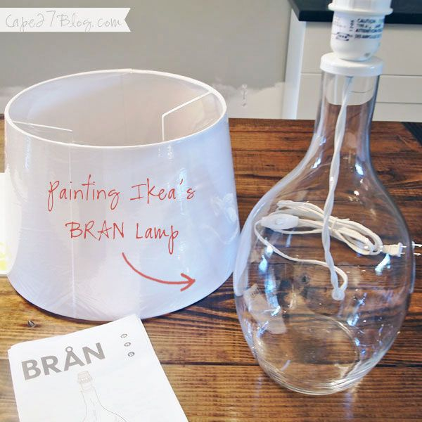 Painting a $23 lamp! | Ikea lamp, Bottle painting, Diy projects