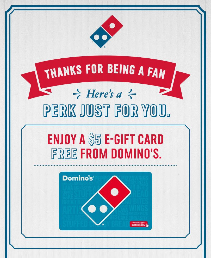 FREE $5 Domino's Pizza E-Gift Card :D http://www.sales-aholic.com ...