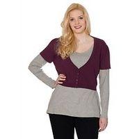 Cheerful V-neck Bolero - Large Size Clothing and Maternity Wear - www.plussizedglamour.co.uk