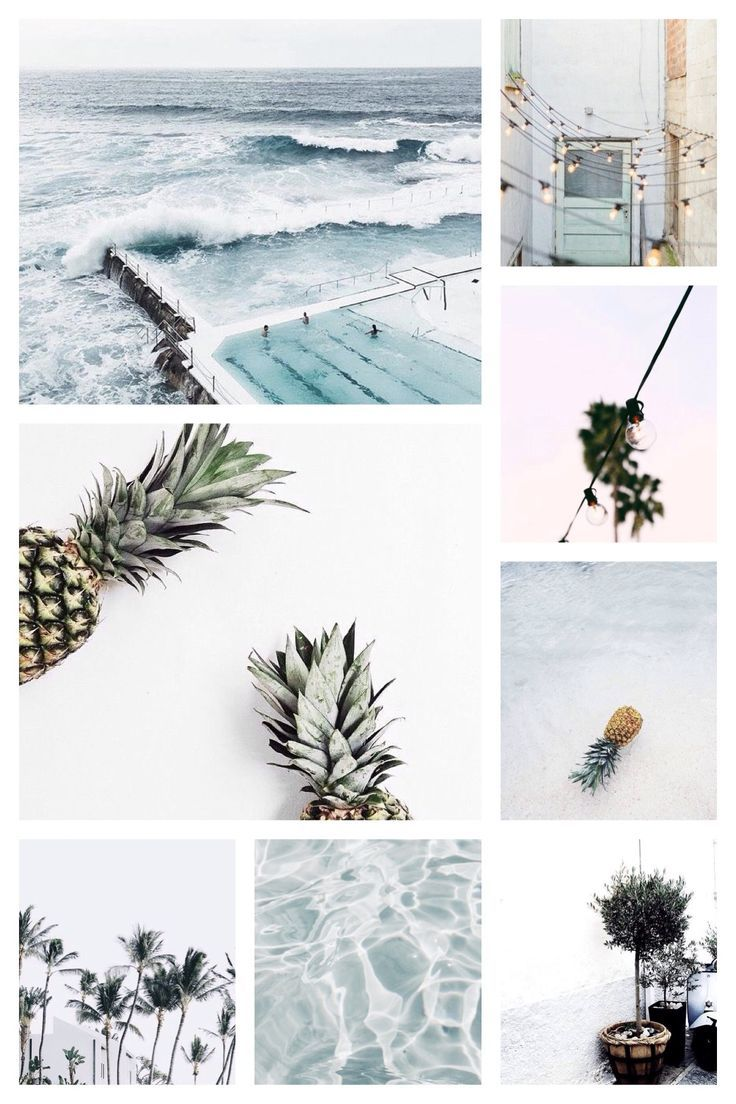 Moodboard by LeaBo Summer - soft blue color palette - graphic design inspiration #collageboard