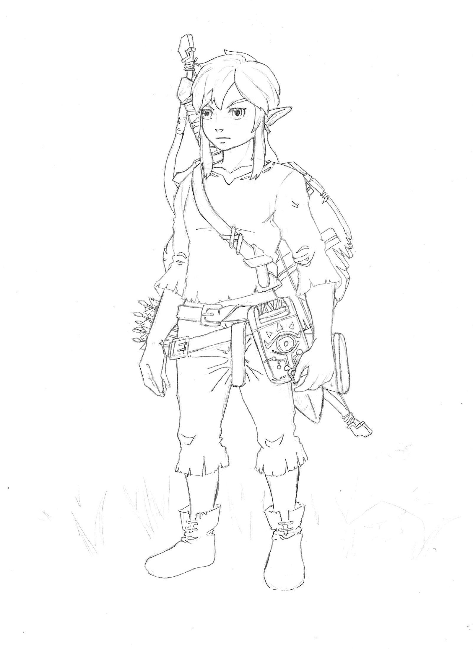 This is a graphic of Ridiculous Breath Of The Wild Drawing