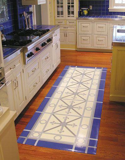 Hand Painted Vinyl Floor Mats For The Home Pinterest