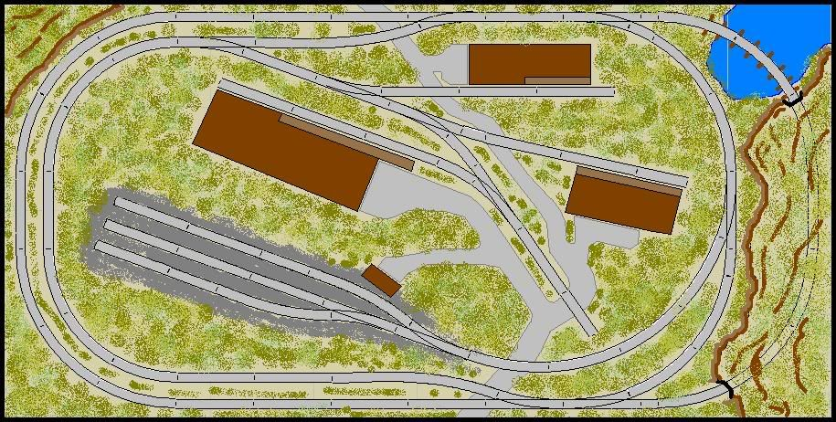 Model railroad track plans google search model rr layouts pinterest railroad tracks - N scale train layouts small spaces paint ...